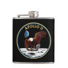 NASA Apollo 11 Moon Landing Lunar Patch Insignia Hip Flask