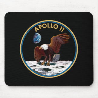 NASA Apollo 11 Moon Landing Lunar Patch Insignia Mouse Pad