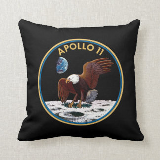 NASA Apollo 11 Moon Landing Lunar Patch Insignia Throw Pillow