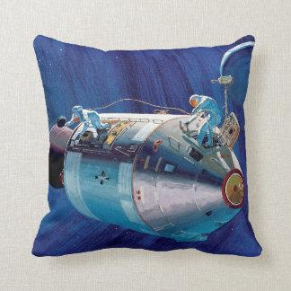NASA Apollo 15 Command Service Module Artwork Throw Pillow
