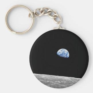 NASA Apollo 8 Earthrise Moon Lunar Orbit Photo Keychain