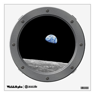 NASA Apollo 8 Earthrise Moon Photo Porthole Window Wall Sticker