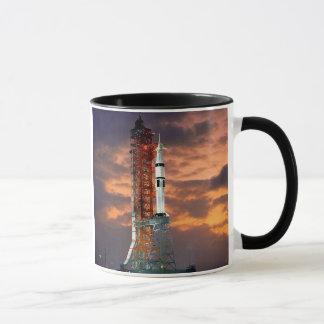 NASA Apollo Soyuz Launch Vehicle Sunrise Launchpad Mug