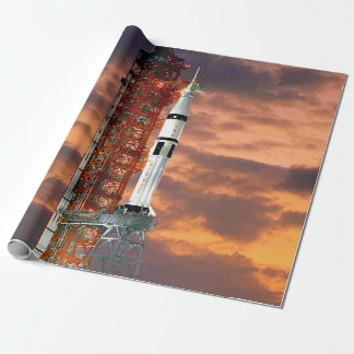 NASA Apollo Soyuz Launch Vehicle Sunrise Launchpad Wrapping Paper