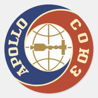nasa apollo space program classic round sticker
