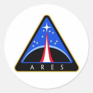 NASA Ares Rocket Logo Classic Round Sticker