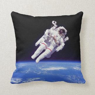 NASA Astronaut Jetpack Spacewalk Earth Orbit Photo Throw Pillow