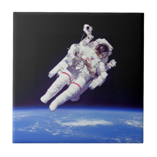 NASA Astronaut Jetpack Spacewalk Earth Orbit Photo Tile
