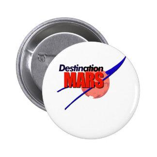 NASA Destination Mars Logo   2 Inch Round Button