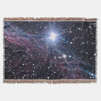 NASA ESA Veil nebula Throw Blanket