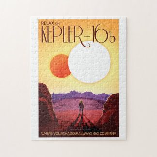 NASA Future Travel Poster - Relax on Kepler 16b Puzzle