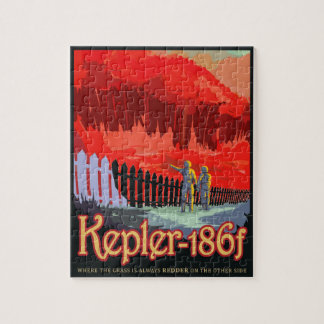 NASA Future Travel Sci Fi Poster - Kepler 186f Jigsaw Puzzle