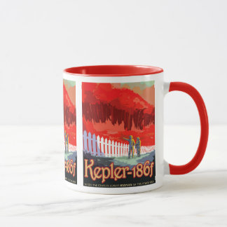 NASA Future Travel Sci Fi Poster - Kepler 186f Mug