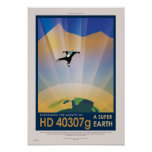 NASA Future Travel Sci Fi Poster - Super Earth