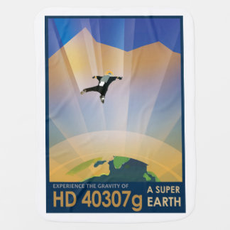 NASA Future Travel Sci Fi Poster - Super Earth Baby Blanket