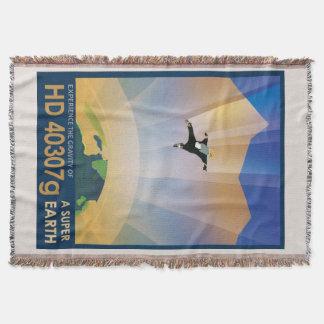 NASA Future Travel Sci Fi Poster - Super Earth Throw Blanket