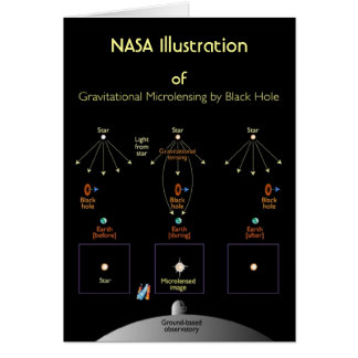 NASA Gravitational Microlensing by Black Hole Card