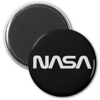 NASA Gray Worm Logo Magnet