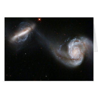 NASA - Interacting Galaxy Pair Arp87 Card