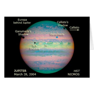 NASA Jupiter Triple Eclipse Card