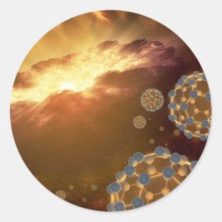 NASA Largest Molecule Buckyballs Classic Round Sticker