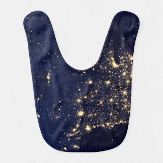 Nasa Lights from Space USA Bib