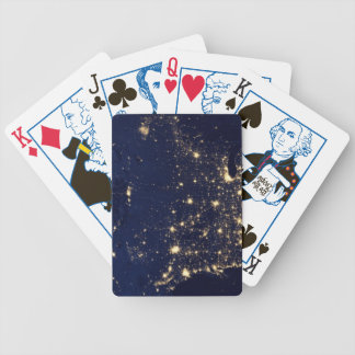 Nasa Lights from Space USA Bicycle Playing Cards