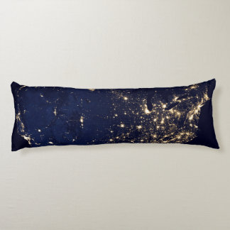 Nasa Lights from Space USA Body Pillow