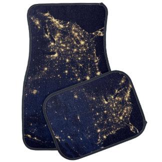 Nasa Lights from Space USA Car Mat
