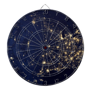 Nasa Lights from Space USA Dartboard