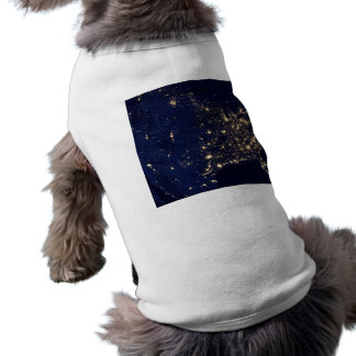 Nasa Lights from Space USA Doggie Tee