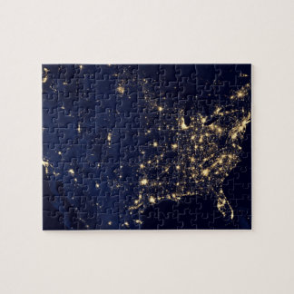 Nasa Lights from Space USA Jigsaw Puzzle