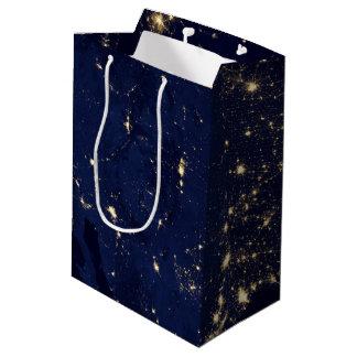 Nasa Lights from Space USA Medium Gift Bag