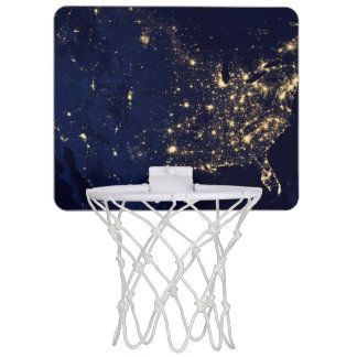 Nasa Lights from Space USA Mini Basketball Hoop