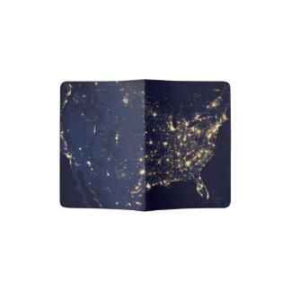 Nasa Lights from Space USA Passport Holder