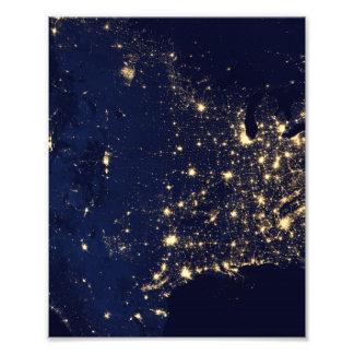 Nasa Lights from Space USA Photo Print