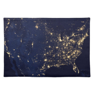 Nasa Lights from Space USA Placemat