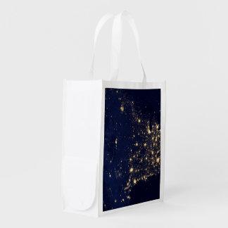 Nasa Lights from Space USA Reusable Grocery Bag