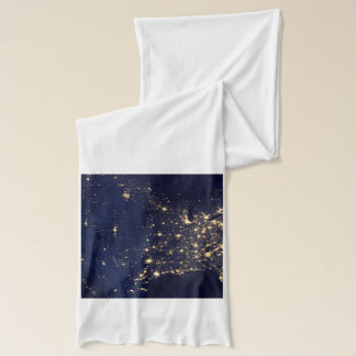 Nasa Lights from Space USA Scarf