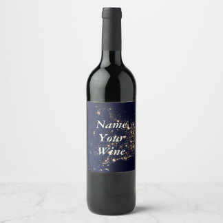 Nasa Lights from Space USA Wine Label