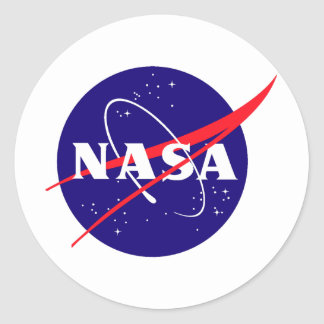 NASA Meatball Logo Classic Round Sticker