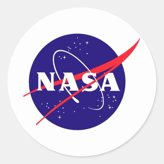 NASA Meatball Logo Round Sticker   Zazzle