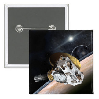 NASA New Horizons Artist Rendition 2 Inch Square Button