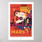 NASA - Retro Mars Tour Travel Poster