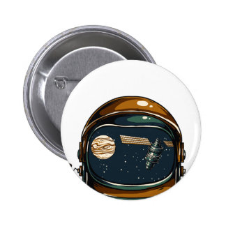 nasa satellite and the moon 2 inch round button