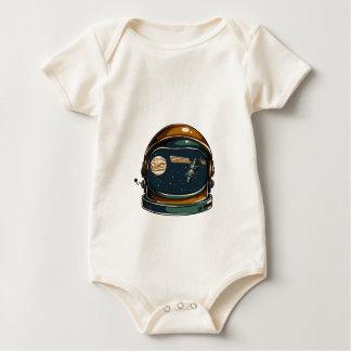 nasa satellite and the moon baby bodysuit