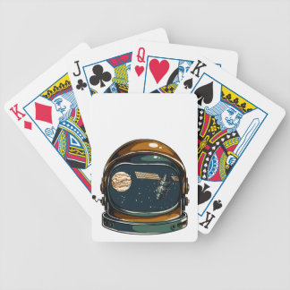 nasa satellite and the moon bicycle playing cards