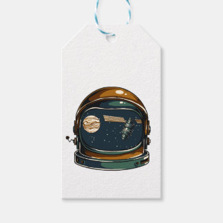 nasa satellite and the moon gift tags