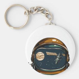 nasa satellite and the moon keychain