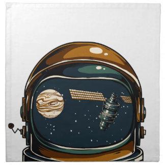 nasa satellite and the moon napkin